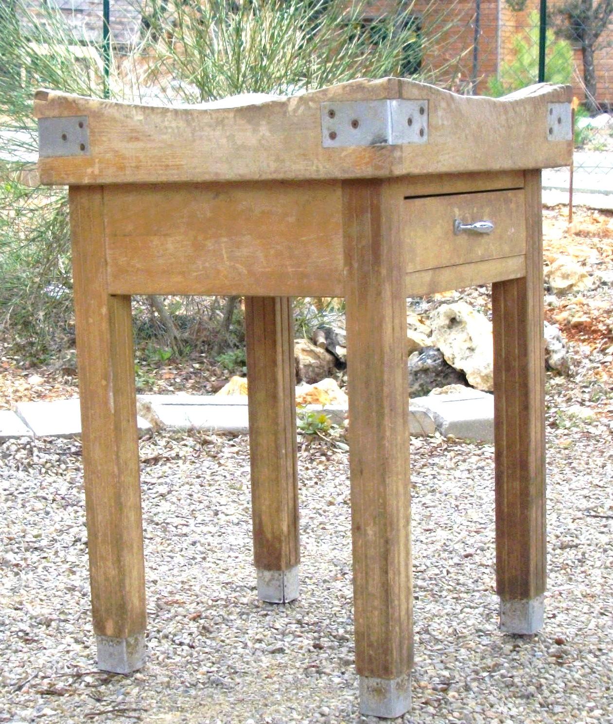 Table de boucher ancienne ancienne planche a dcouper de - La table du boucher villeneuve d ascq ...