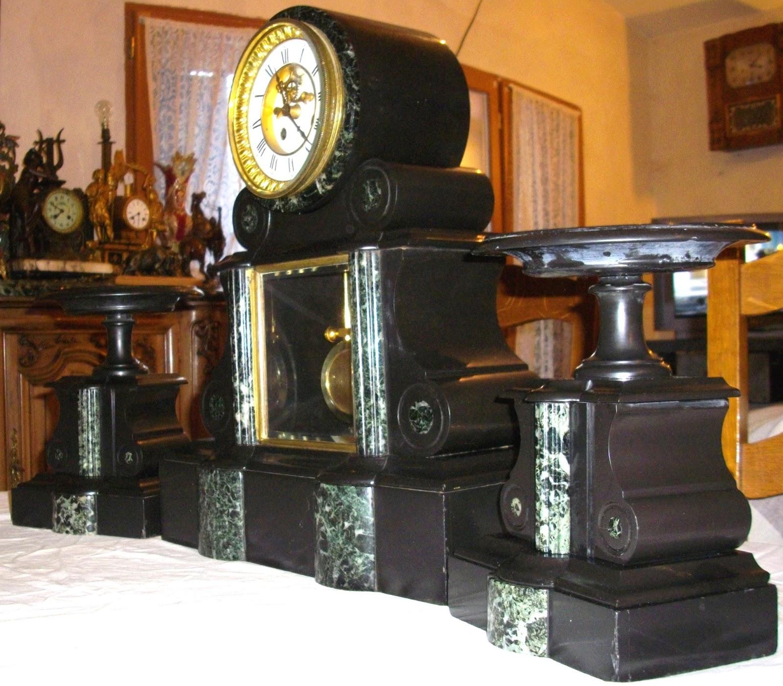 de chemin e napol on iii pendule de notaire mouvement de paris chappement avant. Black Bedroom Furniture Sets. Home Design Ideas