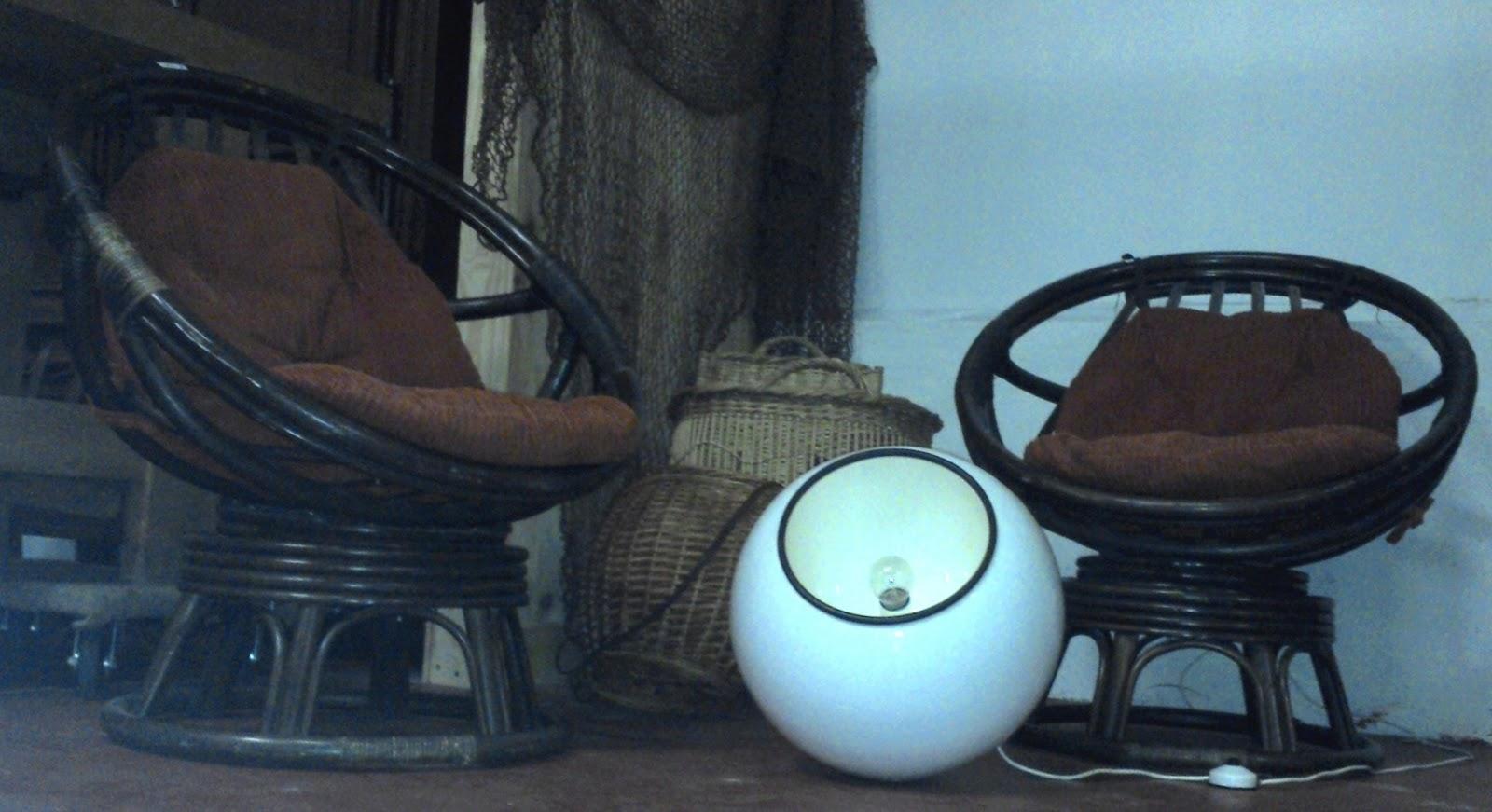 paire fauteuils uf rotins balancelle vintage 1970 bambou. Black Bedroom Furniture Sets. Home Design Ideas