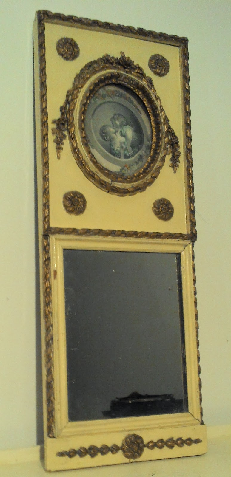 Trumeau ancien petit trumeau d co de style louis xvi for Miroir trumeau ancien